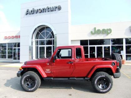 2012 JEEP WRANGLER UNLIMITED - RED ON BLACK