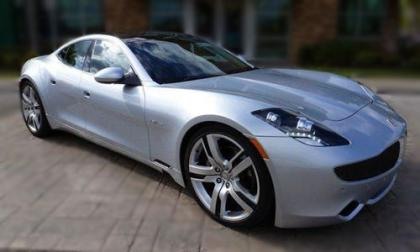 2012 FISKER KARMA ECOCHIC - SILVER ON WHITE