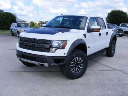 2012 FORD F150 SVT RAPTOR - WHITE ON BLACK