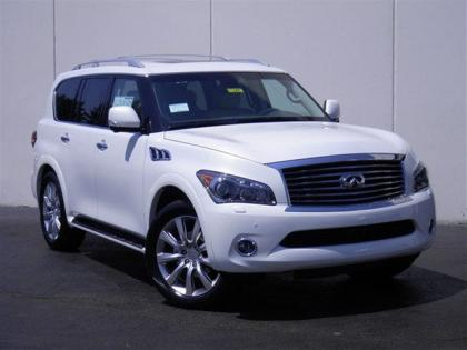 2012 INFINITI QX56 BASE - WHITE ON BEIGE