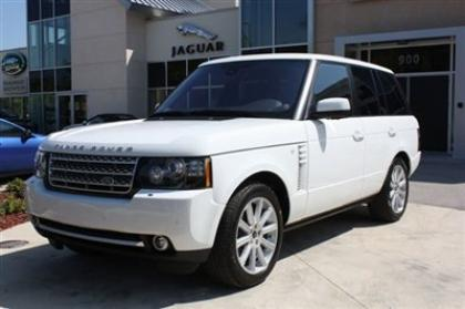 2012 LAND ROVER RANGE ROVER SC - WHITE ON BEIGE