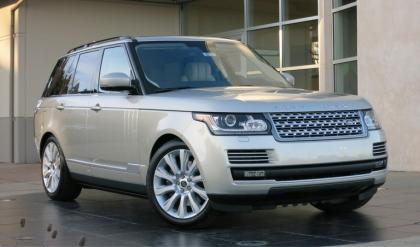 2013 LAND ROVER RANGE ROVER SUPERCHARGED - SILVER ON BEIGE