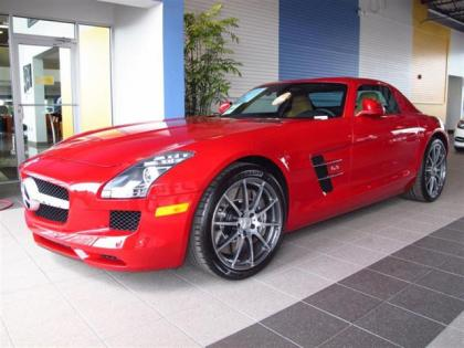 2012 MERCEDES BENZ SLS AMG - RED ON WHITE