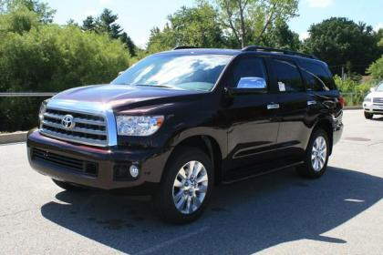 2012 TOYOTA SEQUOIA PLATINUM - DARK RED ON BROWN