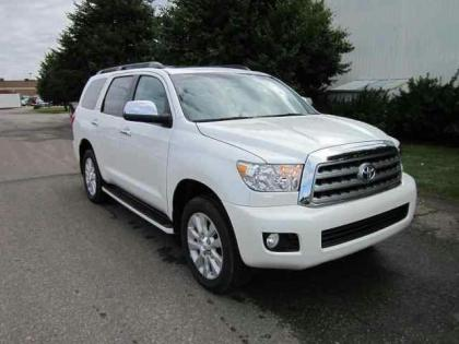 2012 TOYOTA SEQUOIA PLATINUM - WHITE ON GREY