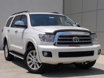 2012 TOYOTA SEQUOIA PLATINUM - WHITE ON GRAY