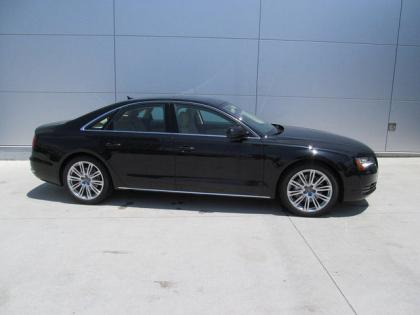2013 AUDI A8 BASE - BLACK ON BEIGE