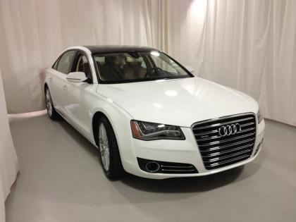 2013 AUDI A8 L - WHITE ON BEIGE