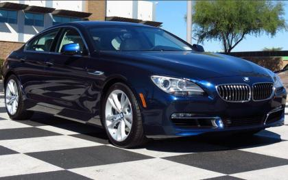 2013 BMW 640 GRAN COUPE - BLUE ON WHITE