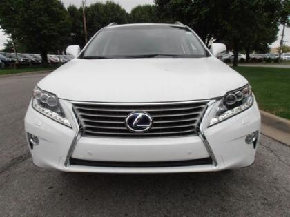 2013 LEXUS RX450 H - WHITE ON BROWN