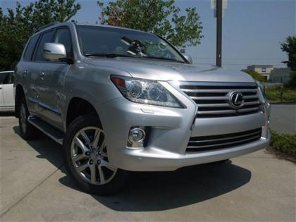 2013 LEXUS LX570 BASE - SILVER ON BEIGE