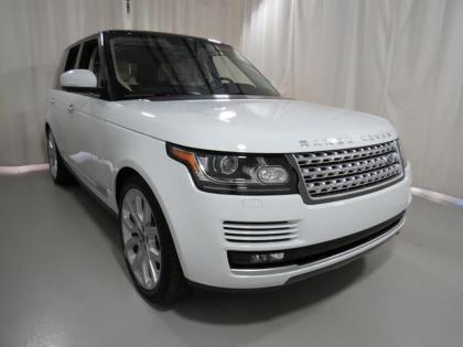 2013 LAND ROVER RANGE ROVER SUPERCHARGED - WHITE ON BEIGE