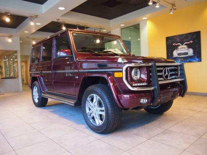 2013 MERCEDES BENZ G550 4MATIC - RED ON ORANGE