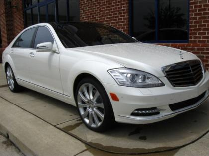 2013 MERCEDES BENZ S550 4MATIC - WHITE ON BROWN