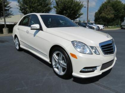 2013 MERCEDES BENZ E350 4MATIC - WHITE ON BEIGE