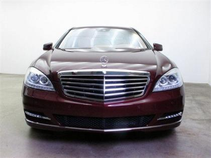 2013 MERCEDES BENZ S550 BASE - DARK RED ON BEIGE