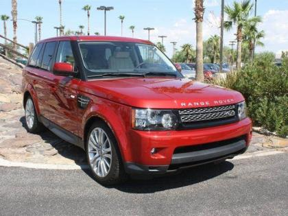 2013 LAND ROVER RANGE ROVER SPORT HSE - RED ON BEIGE
