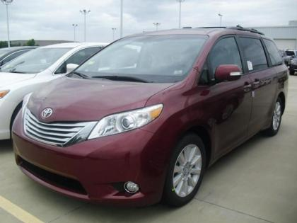 2013 TOYOTA SIENNA LIMITED - RED ON BLACK