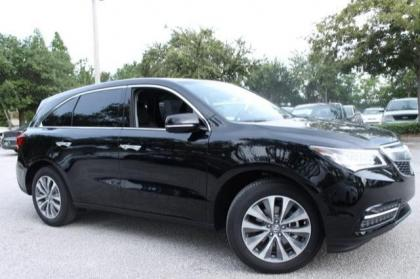 2014 ACURA MDX TECH PACKAGE - BLACK ON BLACK