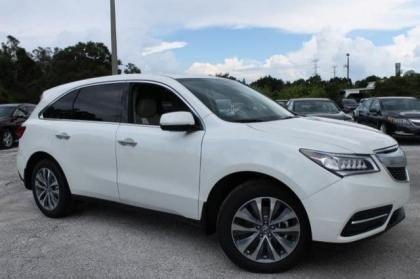 2014 ACURA MDX TECH PACKAGE - WHITE ON BEIGE