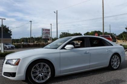 2014 AUDI A8 4.0T - WHITE ON BROWN 2