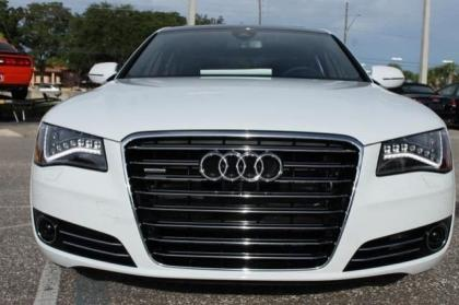 2014 AUDI A8 4.0T - WHITE ON BROWN 3