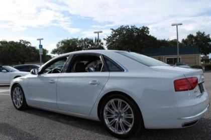 2014 AUDI A8 4.0T - WHITE ON BROWN 5