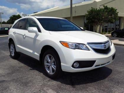 2015 ACURA RDX TECH PACKAGE - WHITE ON BEIGE