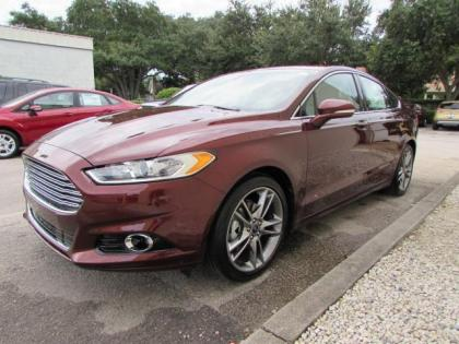 2015 FORD FUSION TITANIUM - RED ON BEIGE