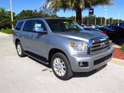 2015 TOYOTA SEQUOIA PLATINUM - SILVER ON BEIGE 1