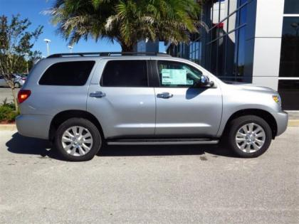 2015 TOYOTA SEQUOIA PLATINUM - SILVER ON BEIGE 2