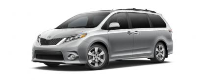 2017 TOYOTA SIENNA LE - SILVER ON GRAY