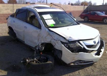 2012 ACURA MDX AWD - WHITE ON BEIGE