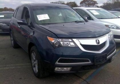 2012 ACURA MDX AWD - BLUE ON BEIGE