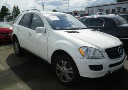 Export salvage 2006 mercedes benz ml350 4matic white on for Mercedes benz ml350 4matic 2006