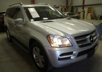 2012 MERCEDES BENZ GL450 4MATIC - SILVER ON BLACK
