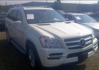 2012 MERCEDES BENZ GL450 4MATIC - WHITE ON BEIGE