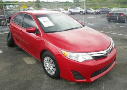 2012 TOYOTA CAMRY LE - RED ON BEIGE
