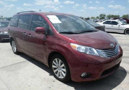 2012 TOYOTA SIENNA XLE - MAROON ON GRAY