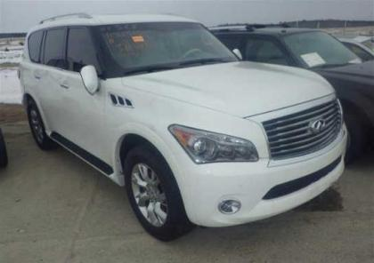 2012 INFINITI QX56 AWD - WHITE ON BEIGE