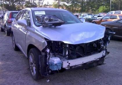 2013 LEXUS RX450 HYBRID - SILVER ON GRAY
