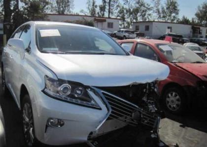2013 LEXUS RX450 HYBRID - WHITE ON BLACK