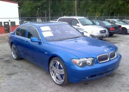 2002 BMW 745 I - BLUE ON BLACK