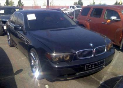 2005 BMW 745 I - BLACK ON BROWN