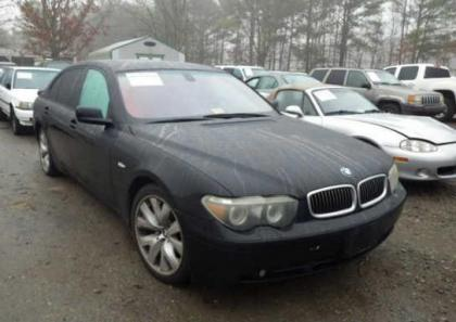 2004 BMW 745 LI - BLACK ON BEIGE 1