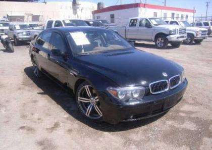 2004 BMW 745 LI - BLACK ON BEIGE