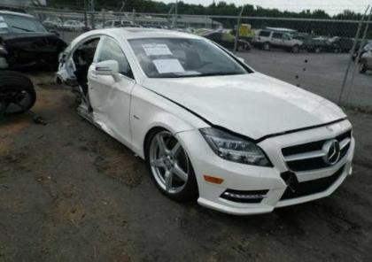 export salvage 2012 mercedes benz cls550 base white on black. Black Bedroom Furniture Sets. Home Design Ideas