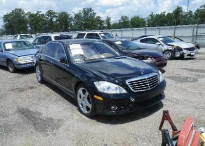 2008 MERCEDES BENZ S550 BASE - BLACK ON BEIGE