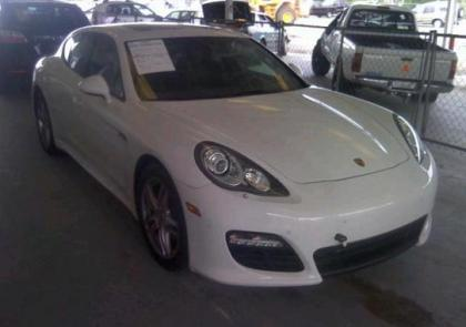 2012 PORSCHE PANAMERA V6 - WHITE ON BROWN