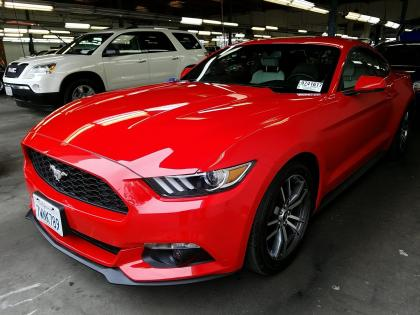 2017 FORD MUSTANG ECOBOOST - RED ON BEIGE
